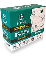 10 x maska FFP2, Made in EU, maska ochronna na twarz, maska FFP2, maska CE1463 - 10 sztuk, biała, BALTIC MASKS BM-001