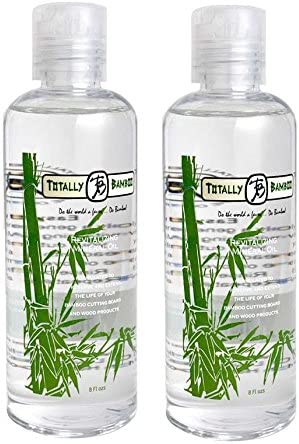 Totally Bamboo Revitalizing Mineral Oil for Bamboo and Hardwood Cutting Boards, Two 8-Ounce Bottles
