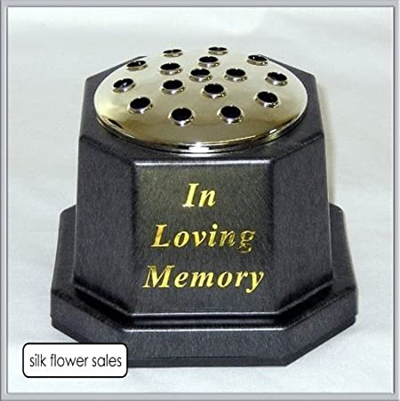 In Loving Memory Memorial Potgrave Black Vase Amazon