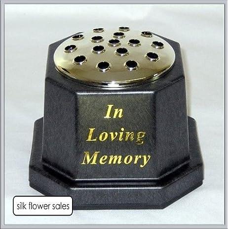 Amazon.com: In loving memory memorial pot/grave black vase by SILK ...