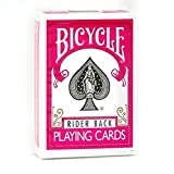 Bicycle 1 Deck of Fuchsia Rider Back Playing Cards (PINK) Standard Edition Deck