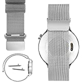 18mm Magnetic Milanese Loop Stainless Steel Magnet Closure Lock Watch Band For Withings Activité, Activité Pop or Activité Steel (YESOO Retail Packaging - 180 Days Warranty) (Silver )