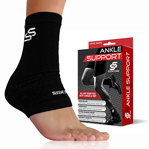 Ankle Brace Brace (Sleeve Stars Professional Plantar Fasciitis Foot Sleeve with Compression Wrap Support. The Best Ankle Brace for Reduce Swelling, Stabilizing Ligaments, Soothe Achy Feet and Heel Spur, Breathable.)