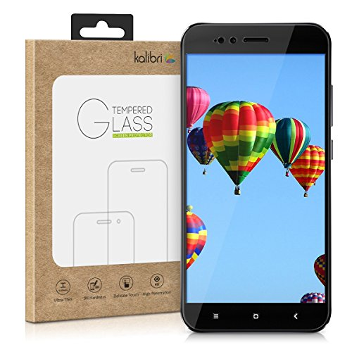 kalibri Tempered Glass Screen Protector - Curved Protective Display Film for Xiaomi Mi 5X / Mi A1 - Black Frame