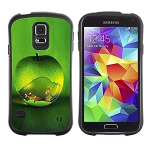 Paccase / Suave TPU GEL Caso Carcasa de Protección Funda para - Green Apple Fish Aquarium Gold Nature - Samsung Galaxy S5 SM-G900