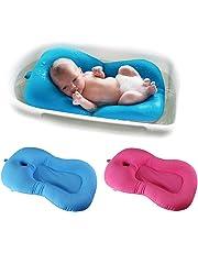 belupai Alfombrilla de baño para bebé recién nacido, plegable, para bañera, asiento de