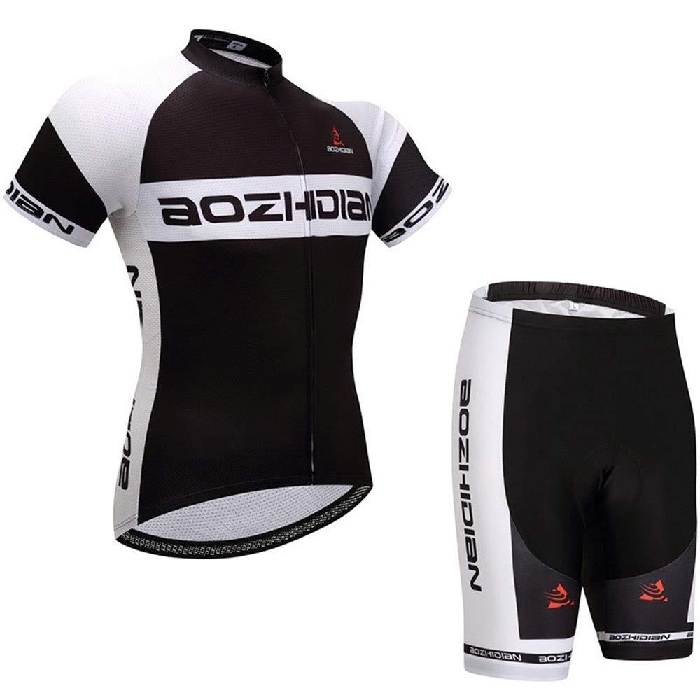 TONGDAUR Trikots Herren Sommer Fahrrad Kurzarmtrikot Atmungsaktiv Trainingsanzug Wandern Laufbekleidung (Color : 1, Size : M)