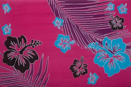 1 World Sarongs Pareos para Mujer con Estampado Floral Tropical Hot Pink