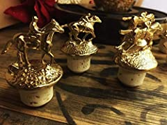 Limited quantities available. Entire set of gold BLANTONS bottle stoppers with velvet Blanton's bag. The signature bottle top that adorns every bottle Blanton's Original Single Barrel Bourbon. Each top is mounted with a horse and jockey in a ...