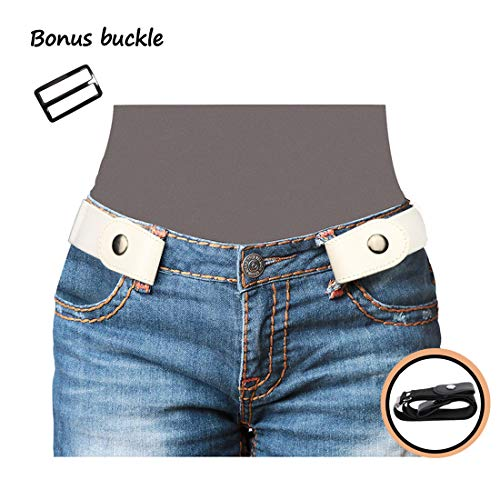 No Buckle Women/Men Stretch Belt Invisible Elastic strap for Jeans Pants Dresses Valentine's Day