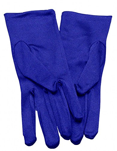 (Miranda's Bridal Women's Wrist Length Formal Satin Gloves Royal Blue)
