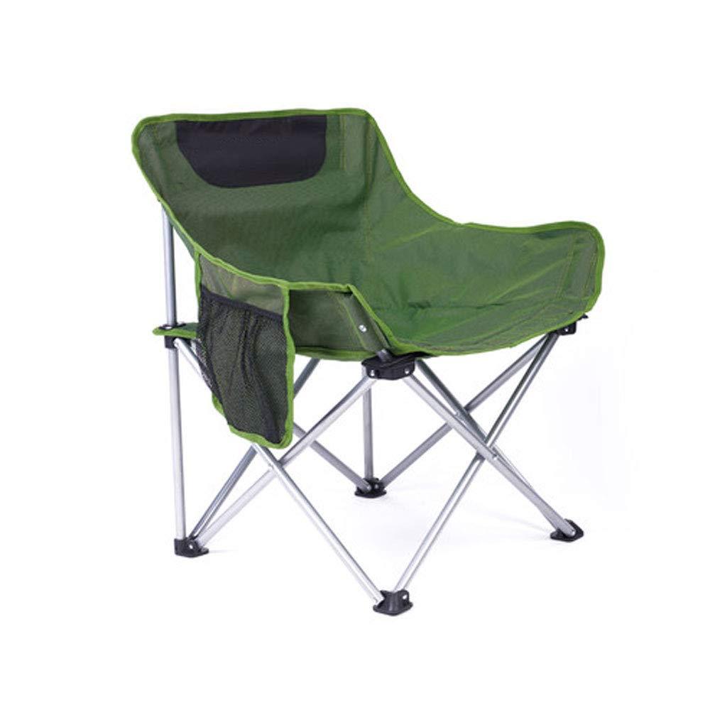 FH Klappstuhl, Outdoor Camping Einzelner Beiläufiger Beweglicher Ultraleichter Einfacher Fischen-Stuhl-Garten-Rest-Stuhl, Blaues Grün Wahlweise Freigestellt