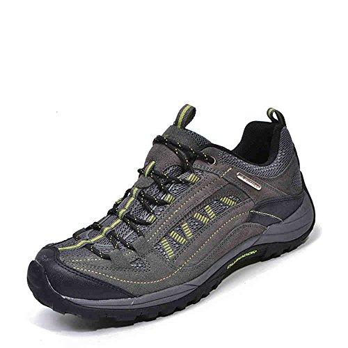 Buque en desierto hombres senderismo zapatos impermeable (verde gris, eur41)