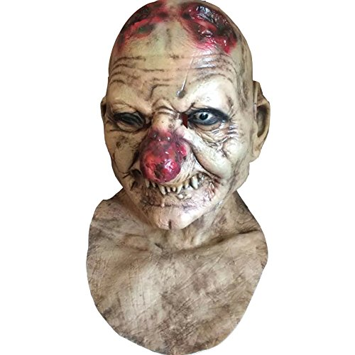Zombie Mask Red Nose Devil Latex Mask Costume