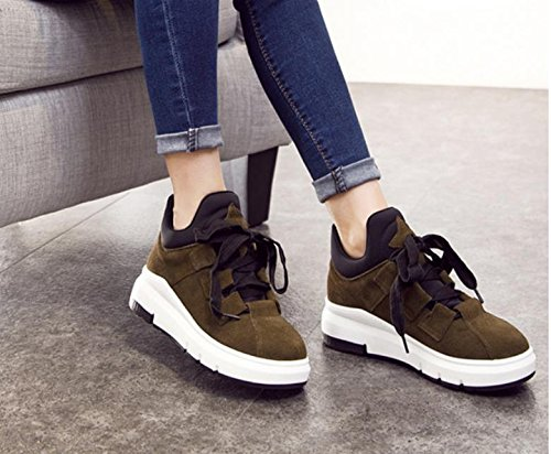 bottom shoes tide thick single women sports leisure 2017 increased new shoes Brown BRww8q