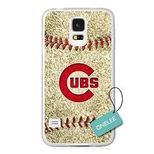 Onelee(TM) - MLB Team Chicago Cubs Logo Samsung Galaxy S5 Case & Cover - Transparent plastic 2