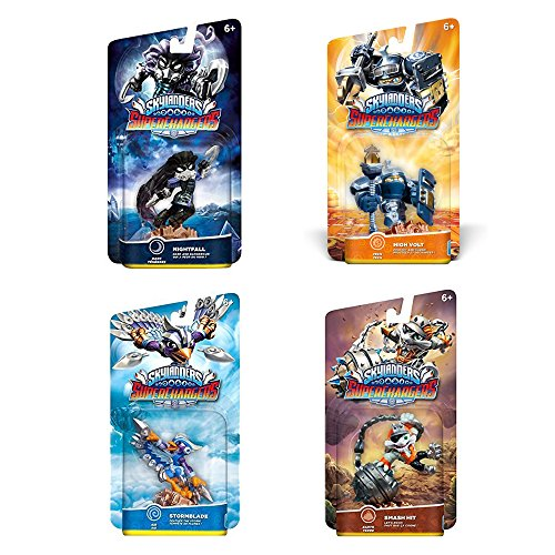 Skylanders SuperChargers Character Pack Bundle (4): Stormblade, Nightfall, High Volt, and Smash Hit Character Pack