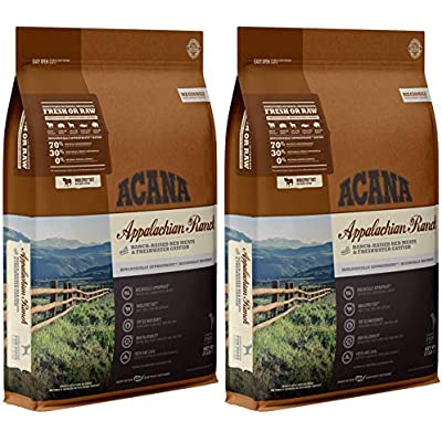 ACANA 2 Pack of Appalachian Ranch Dry Dog Food, 13 Pounds Each, High Protein, Grain Free, Made in The USA