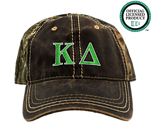 Kappa Delta Embroidered Camo Baseball Hat, Various Thread Colors