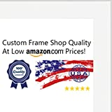 27x40 Contemporary White Wood Picture Frame - UV Acrylic, Foam Board Backing, & Hanging Hardware Included!