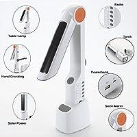 Emergency Radio Flashlight,INSKO-609 Solar Lamp Hand-Crank Emergency Weather Digital Tuning Radio With Siren, LED Flashlight, Cell Phone Charger