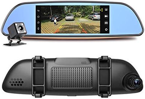 3 G Cam/éra de voiture Android 5.0 Bluetooth GPS transmetteur FM Dual Lens R/étroviseur Camera Automovil Wifi 17,8 cm /écran tactile
