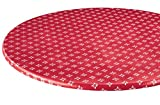 WalterDrake Heritage Vinyl Elasticized Table Cover HSK 40″ – 44″ dia. Round For Sale