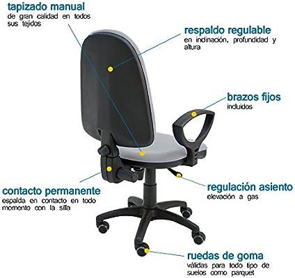 silla de ruedas con elevacion tipo oficina manual