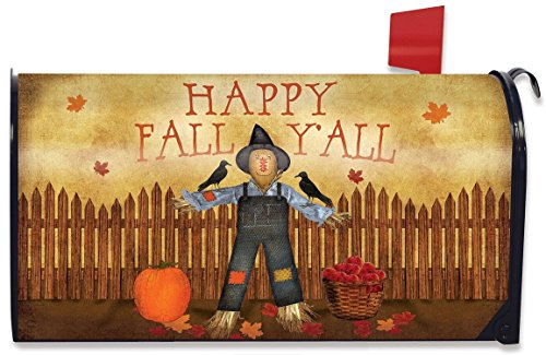 (Briarwood Lane Happy Fall Y'all Scarecrow Mailbox Cover Primitive Autumn)