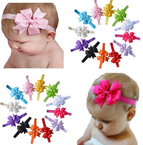 Serre-têtes cheveux Bow de Qandsweet Baby Girl (de 12Pack)