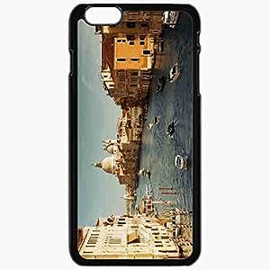 Unique Design Fashion Protective Back Cover For iPhone 6 Plus Case Slim (5.5 inch) Italy Venice Boats Black