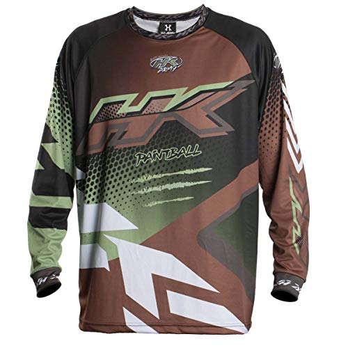 HK Army Retro Paintball Jersey - Edge - Brown/Olive - Large