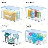 mDesign Stackable Bathroom Storage Bin Box with