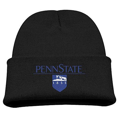 Child Unisex Toboggan Hat Slouchy Beanie Winter Penn State University Logo Skull Cap WinterHats Beanie Black