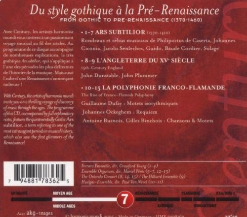 Ars subtilior: Dawn of the Renaissance (A History of Music, Century, Vol. 7) by Harmonia Mundi