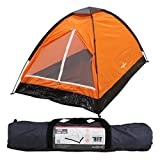 Milestone Two Person Dome Waterproof Camping Festival Tent Orange With Carry
