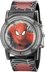 Marvel Spider-Man Kids' SPD3500SR Digital Display Analog Quartz Black Watch