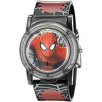 Marvel Spider-Man Kids 'spd3500sr visualización digital reloj de cuarzo analógico, Negro