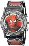 Marvel Spider-Man Kids' SPD3500SR Digital Display Analog Quartz Watch, Black