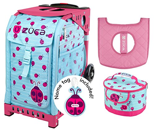Zuca Sport Bag - Ladybugz with Gift Lunchbox and Seat Cover (Pink Frame) by ZUCA