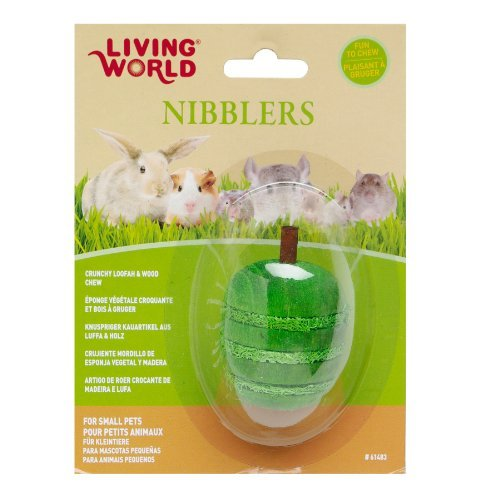 LW Nibblers, Wood/Loofah Chews, Apple by Living World