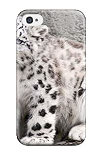 Snap-on Snow Leopard Case Cover Skin Compatible With Iphone 4/4s