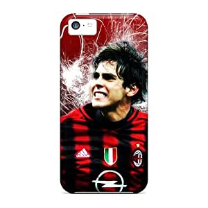 Iphone Covers Cases - Milan Kaka On Red Background Protective Cases Compatibel With Iphone 5c