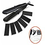 3 4 mini flat iron - 4 in 1 Curling Iron, Accellorize Hair Curler Crimper Straightener with Flat Iron Small Medium Large Waver 4 kinds of Interchangeable Ceramic Plates and Heat Protective Glove