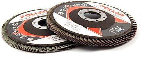 DHOUTDOORS 10PCS Flap Discs 115mm Sanding Discs 4.5 40 60 80 120 Grit Grinding Wheels