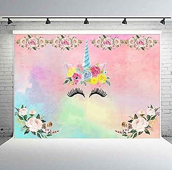Amazon.com: PHMOJEN - Fondo de unicornio para fiestas de ...