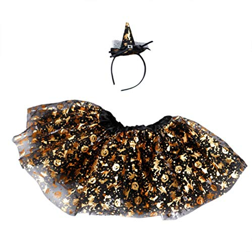 Price comparison product image Baby Halloween Clothes,Leegor Girls Kids Tutu Ballet Skirts Fancy Party Skirt+Headband Outfit