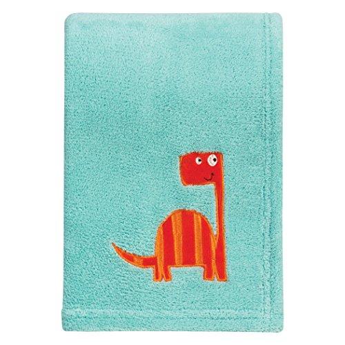 Trend Lab Dinosaur Roar Plush Baby Blanket, Green, ()
