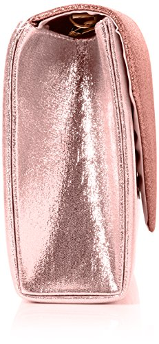 SwankySwans Women's Kelly Glitter Envelope Clutch Bag Party Prom Bag Clutch Pink (Pink)