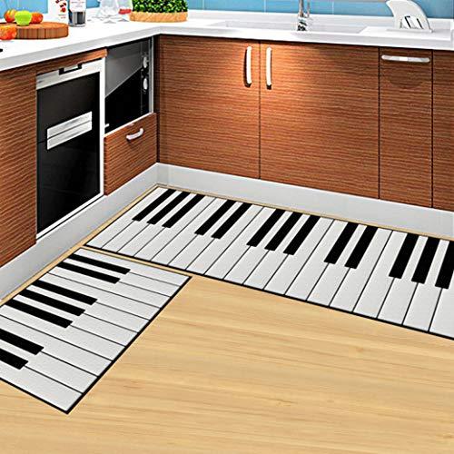 Carpet Piano Pattern Floor Mat Kitchen Absorb Water Mat Anti-Slip Bathroom Rug Home Decor Entrance Doormat ()